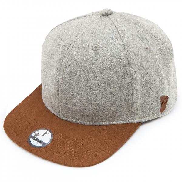 eyefoot luxury flat brim cap- MCSS2 buckle adjustable - leather strap