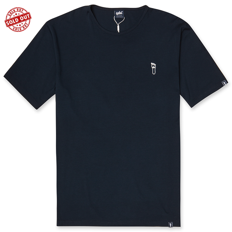 eyefoot-Classic-Navy-Blue-t-shirt - white chest logo