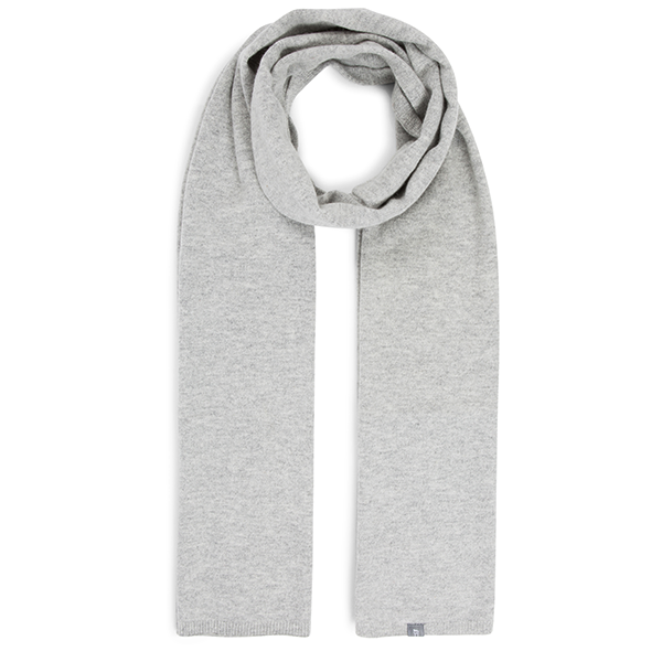 eyefoot light grey 100% cashmere scarf