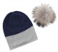 EYEFOOT grey and Navy PP Beanie